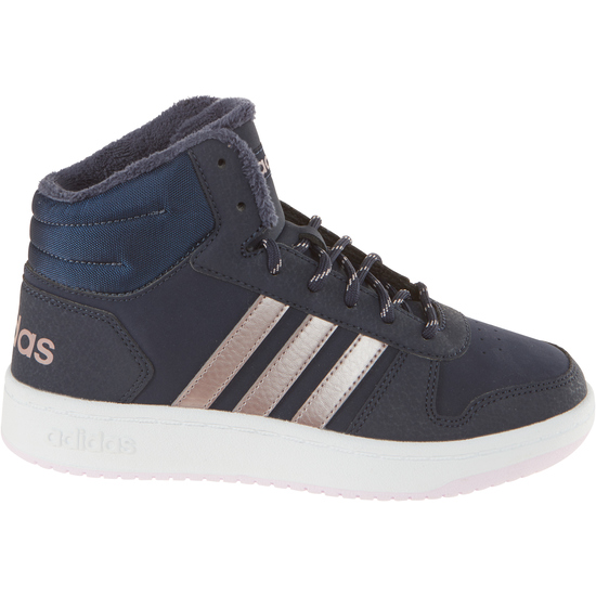 sneakers for cheap 502a2 fbedc adidas Mädchen Essentials Hoops 2.0 Mid Schuh